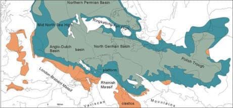 De Zechstein zee, Het carboon 250 miljoen jaar later